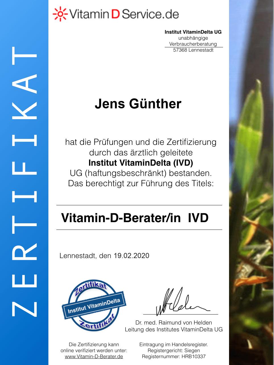 JVG Vitamin-D-Beratung